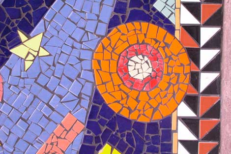Broken tile wall mural wall covers for Broken glass mural